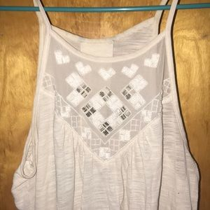 Off white detailed American eagle tank